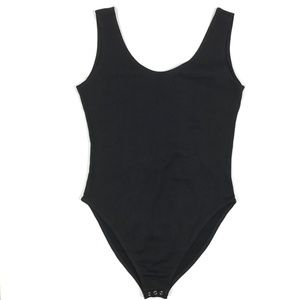 One Step Up Tank Top Bodysuit Snap Closure